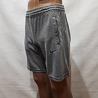 Шорты мужские до колена трикотажные х/б в стиле Nike светло-серые Турция