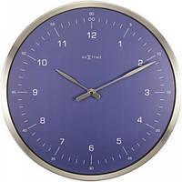 """Годинники настінні Next Time """"60 Minutes"""", сині Ø33 см"""