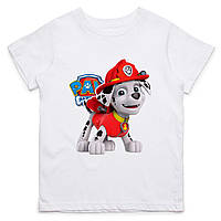 Детская футболка с принтом Маршал пожарник, Щенячий патруль Push IT