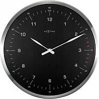 """Часы настенные Next Time """"60 Minutes"""", черные Ø33 см"""