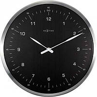 """Годинники настінні Next Time """"60 Minutes"""", чорні Ø33 см"""