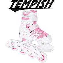 Детские раздвижные роликовые/ледовые коньки Tempish Clips Girl Duo 2в1/37-40