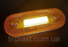 Габаритный фонарь LED УНИВЕРСАЛЬНЫЙ диодный боковой габарит MAN DAF RVI SCANIA VOLVO НЕОН желтый LED 12-24V