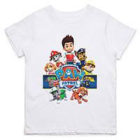 Детская футболка с принтом Щенячий патруль, персонажи лого Push IT
