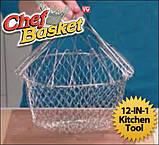 Chef Cesta Chef Basket Magic Kitchen складная решетка для приготовления пищи Шеф Баскет, фото 6