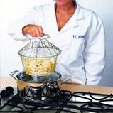 Chef Cesta Chef Basket Magic Kitchen складная решетка для приготовления пищи Шеф Баскет, фото 7