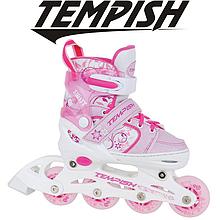 Детские раздвижные роликовые коньки Tempish Swist Flash/30-33, розовые