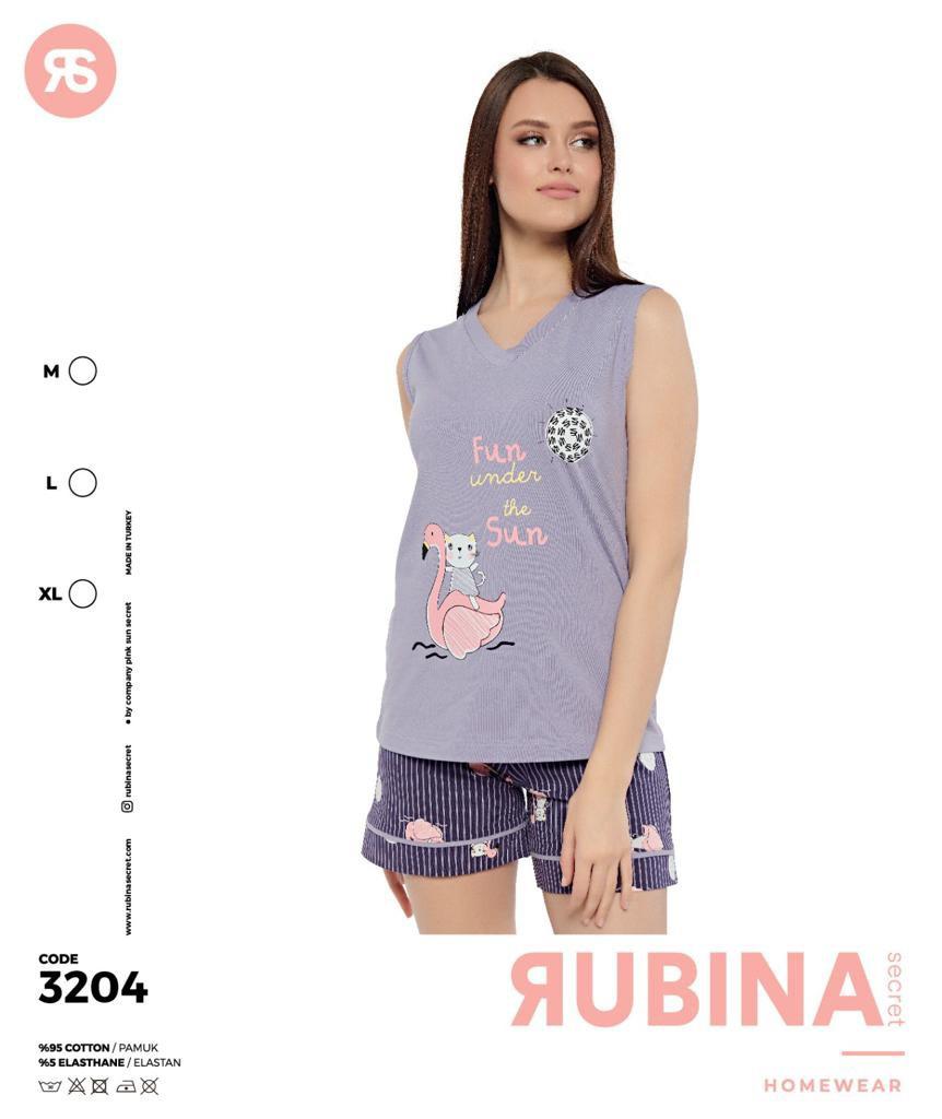 """Жіночі комплектики(шортики з майкою)""""RUBINA"""" Туреччина Art-3204"""