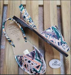 Женские кожаные сандалии на низком ходу, Испания оригинал