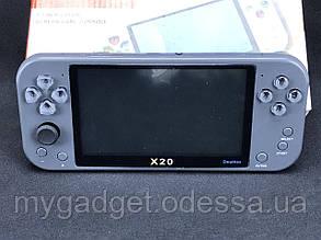 Портативная консоль X20 /Черный (с возможностью подлючения 2х геймпадов)