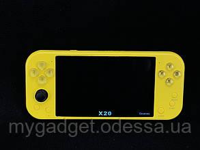 Портативная консоль X20 /Желтый (с возможностью подлючения 2х геймпадов)