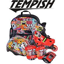 Детские раздвижные роликовые коньки Tempish Monster Baby skate (комплект)/30-33