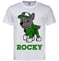 Детская футболка с принтом Щенячий патруль Рокки Rocky Push IT