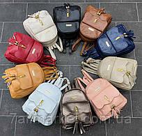 """Рюкзак жіночий маленький на блискавці, розмір 28*22 см (9цв) """"David Bags"""" недорого оптом від прямого постачальника"""