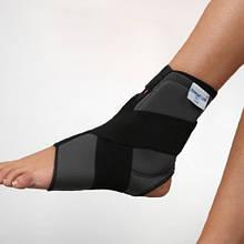 Бандаж неопреновый на голеностопный сустав с фиксирующим ремнем и силиконовыми вкладками - Ersamed REF-403