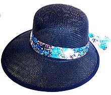 Шляпа-козырек пляжная Fashion (58 см) темно-синяя