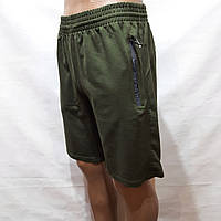 XXL р. Шорты мужские до колена трикотажные х/б в стиле Nike Турция оливка Последние остались