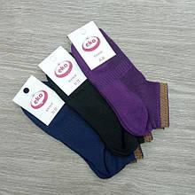Шкарпетки підліткові з сіткою, короткі, EKO, р. 21-23, з люрексом, темне асорті, 30031337