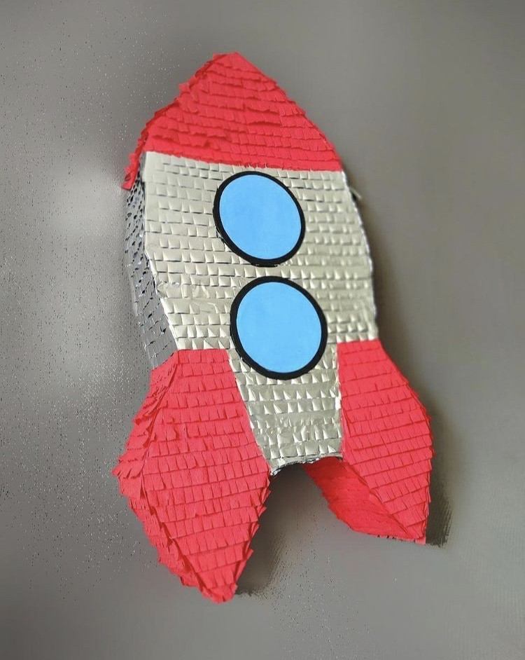 Пиньята Ракета с палкой размер Max