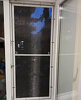 Стальная москитная сетка на окна полотно с нержавеющей стали цвет белый-решетка Антикошка