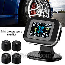 Система контроля давления в шинах TPMS mini n07 + наружние колпачки датчики колес