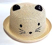 Шляпка детская летняя Fashion (50-52 см) бежевая