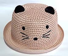 Шляпка детская летняя Fashion (50-52 см) светло-коричневая