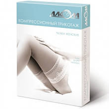 Панчохи жіночі лікувальні компресійні, з відкритим миском, I клас компресії, Алком 6081