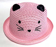 Шляпка детская летняя Fashion (50-52 см) розовая