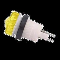 Арматура сигнальная АМЕ желтая с лампой КМ-24