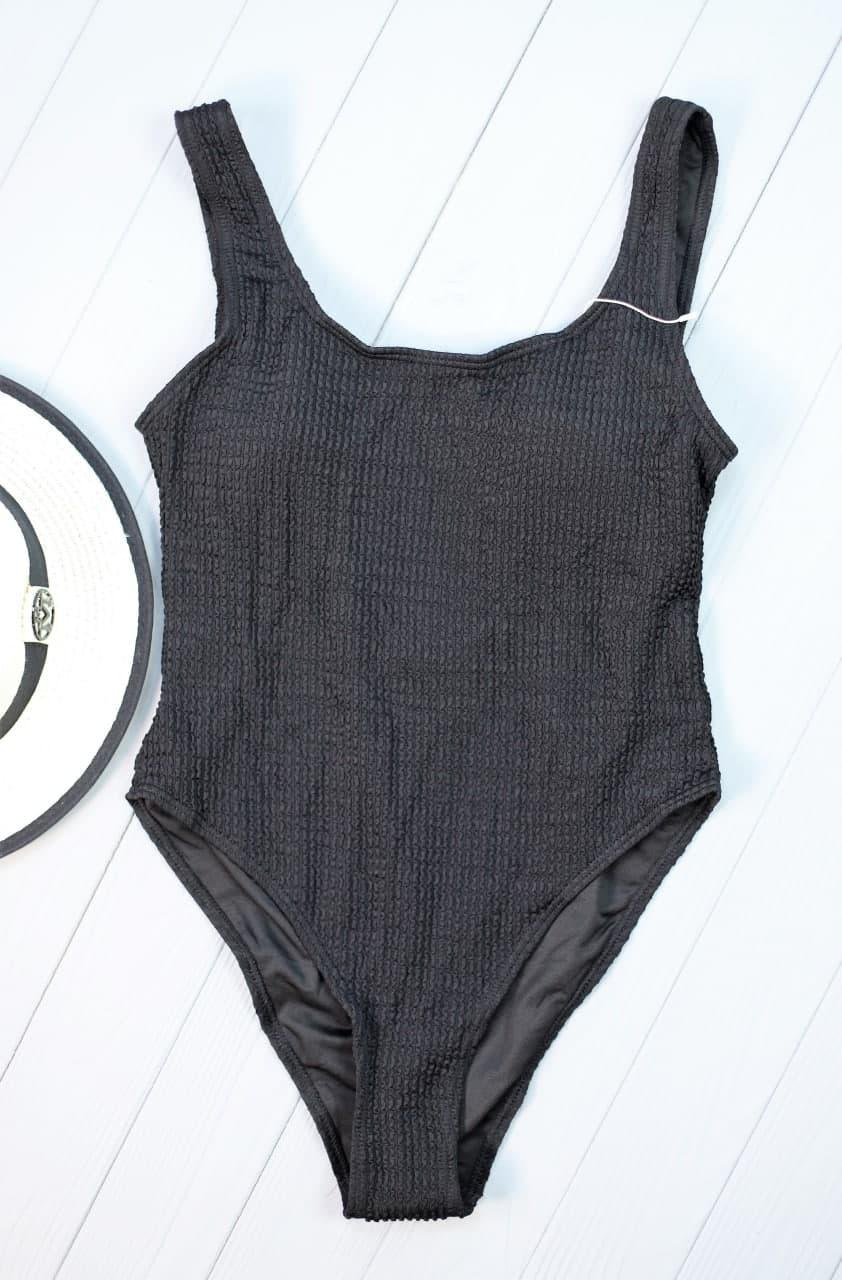 Відрядний чорний купальник з відкритою спинкою Black