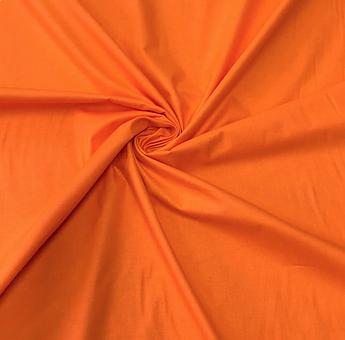 Отрез ткани Польская хлопковая ткань оранжевая 70х160 см
