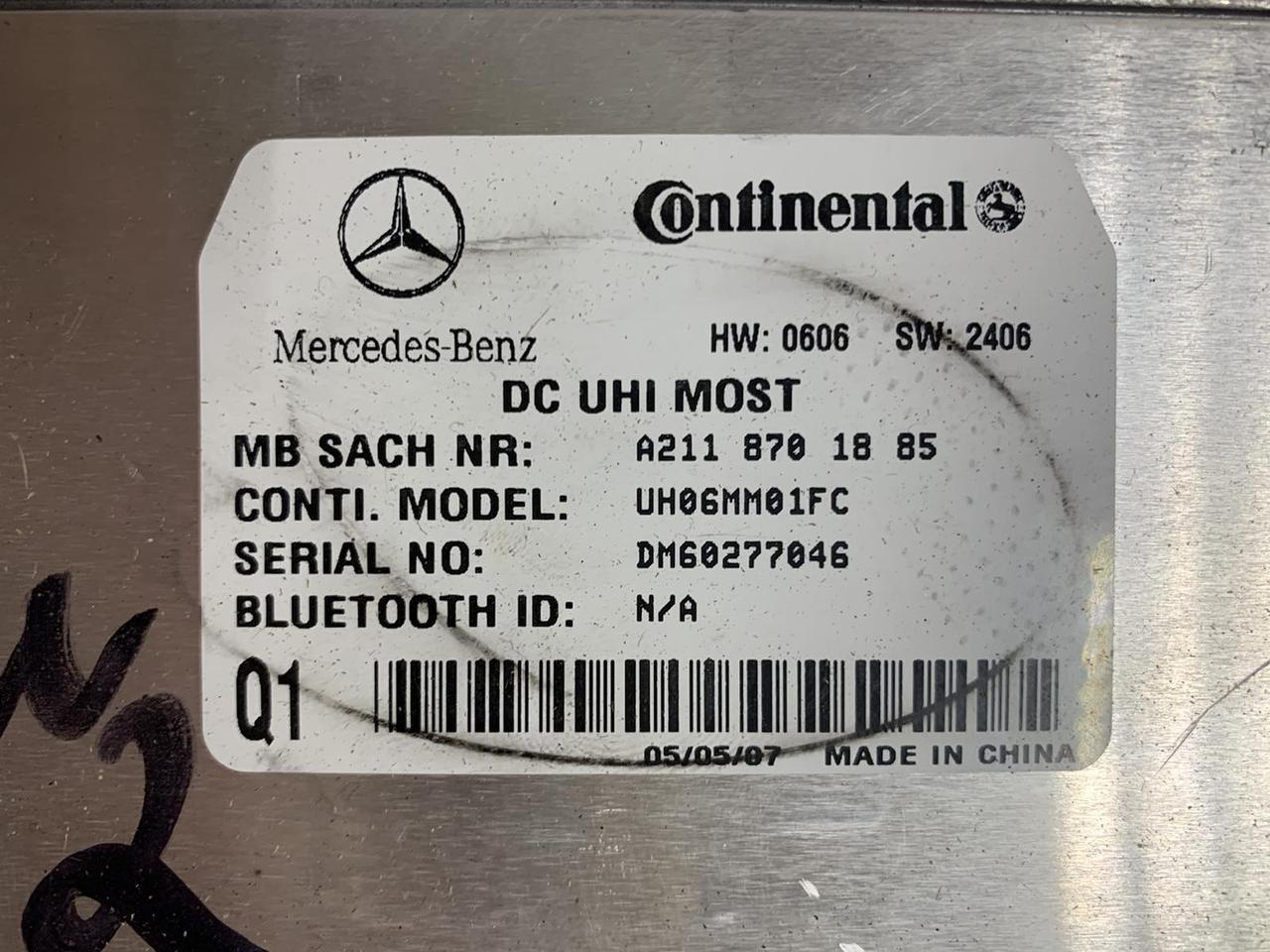Блок управления телефоном bluetooth А2118701885 Mercedes ML W164 / GL X164  Мерседес мл гл 164