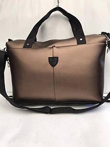 Повседневная женская сумка с ручками из кожзама