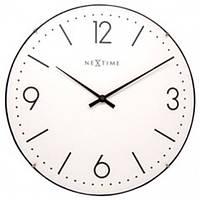 """Часы настенные Next Time """"Basic Dome"""" белые Ø35 см"""