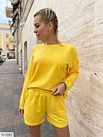 Трендовый молодежный модный костюм свитшот с удлиненными шортами р-ры 42-44,46-48 арт 480