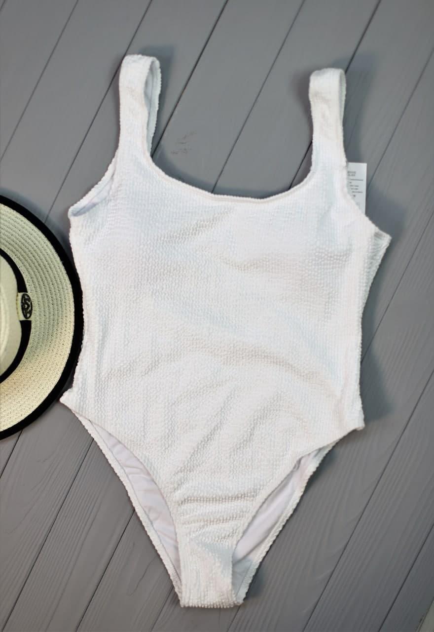 Відрядний білий купальник з відкритою спинкою White
