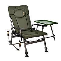 Карповое рыболовное кресло Elektrostatyk F5R ST/P с подлокотниками, столиком и подставкой для удилища (Польша)