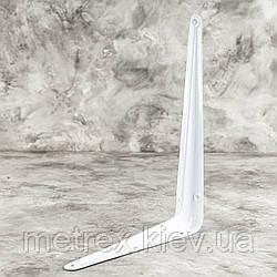 Консольный уголок для крепления полок 175х225 мм эмалированный белый
