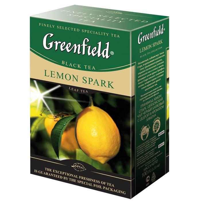Чай чёрный Greenfield Lemon Spark 100 г.