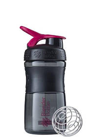 Спортивная бутылка-шейкер BlenderBottle SportMixer 590ml Black and Pink Original SKL24-252475