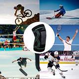 Наколінники спортивні PowerPlay 4099 Черні L-XL пара SKL24-277277, фото 6