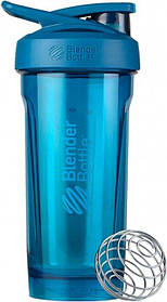 Спортивная бутылка-шейкер BlenderBottle Strada Tritan 28oz-820 ml Ocean Blue Original SKL24-277389
