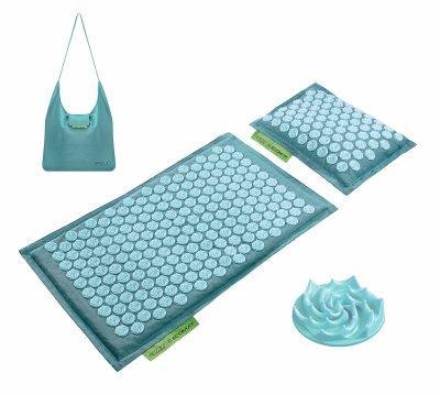 Килимок акупунктурний з подушкою 4FIZJO Eco Mat Аплікатор Кузнєцова 68 x 42 см Turquoise SKL41-277739