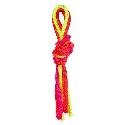 Скакалка World Sport гимнастическая желто-красная радуга 3м хлопок SKL11-281670