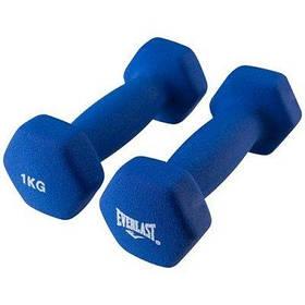 Гантели для фитнеса Everlast 2 шт по 1кг синие SKL11-291746