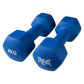 Гантели для фитнеса Everlast 2 шт по 4кг синие SKL11-291747