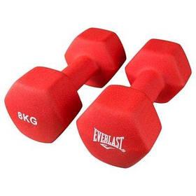 Гантели для фитнеса Everlast 2 шт по 8кг красные SKL11-291749