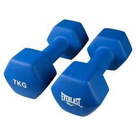 Гантели для фитнеса Everlast 2 шт по 7кг синие SKL11-291750