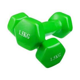 Гантели для фитнеса World Sport 1.5кг х 2 шт зеленые SKL11-291755